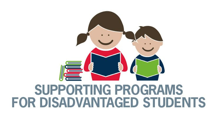 Supporting programs for disadvantaged students