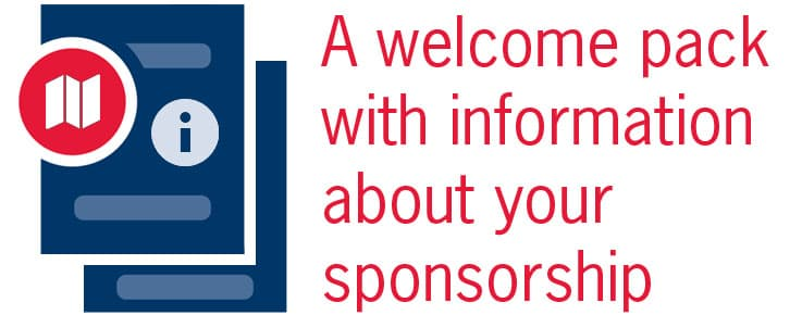 graphic says a welcome kit with information about your sponsorship