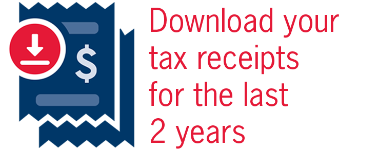 Supporters - Download your tax receipts