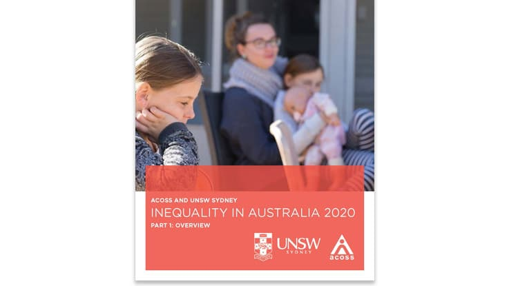 Inequality in Australia Report Cover Pic