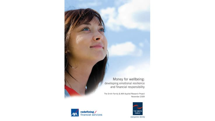 Money for wellbeing: developing emotional resilience and financial responsibility - 2009