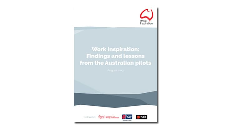 Work Inspiration: Findings and lessons from the Australian pilot