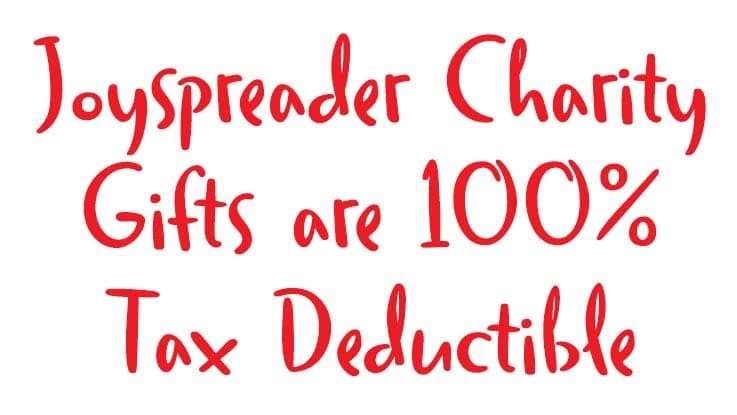 Joyspreaders are tax deductible