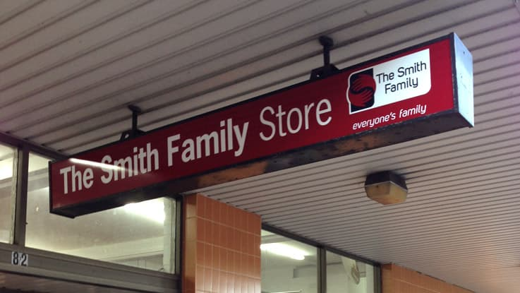 The Smith Family clothing store sign