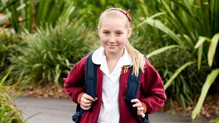 learning-for-life-student-Melanie-walking-to-school