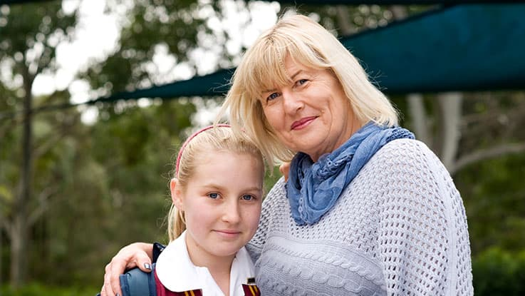 Learning for Life student Melanie with her mum Judy