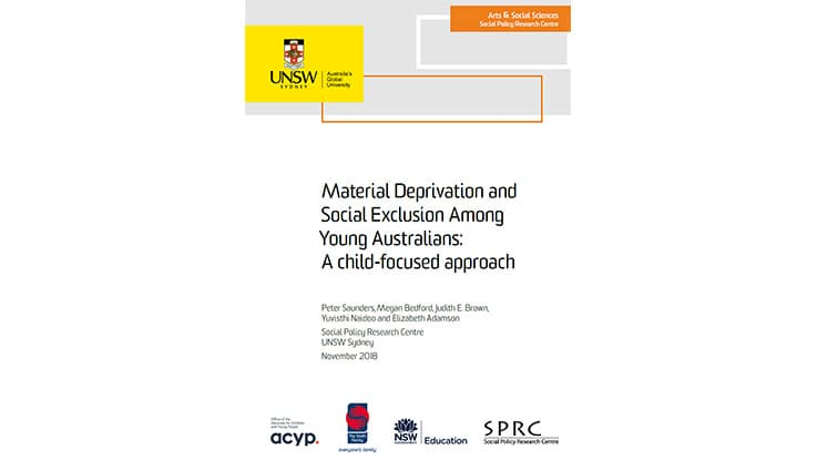 Material Deprivation and Social Exclusion Among Young Australians: A child-focused approach