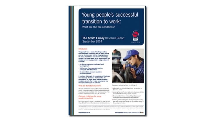 Young people's successful transition to work report